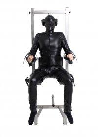 Sklavenstuhl aus Edelstahl