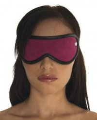 Augenmaske Velours rosa