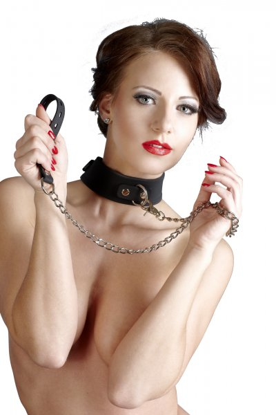 Silicone collar with leash soft and smooth