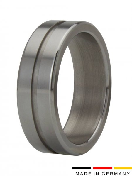 Cockring penis ring stainless steel with groove 15 mm wide