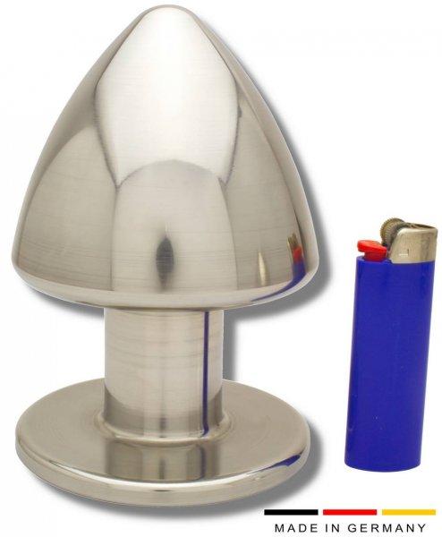 100 mm Buttplug aus Edelstahl - nur für echte Profis