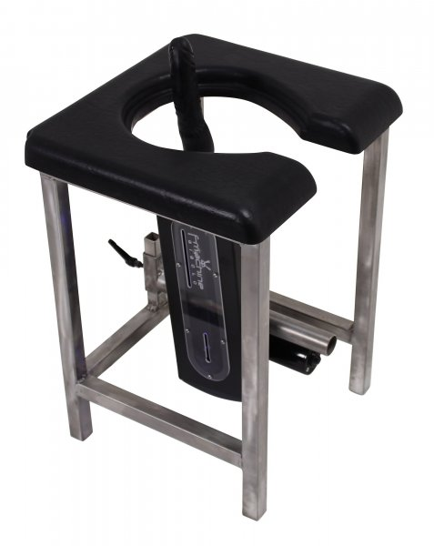 Slave stool with seat opening