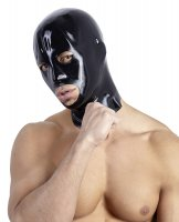 Preview: Latex Kopfmaske in schwarz