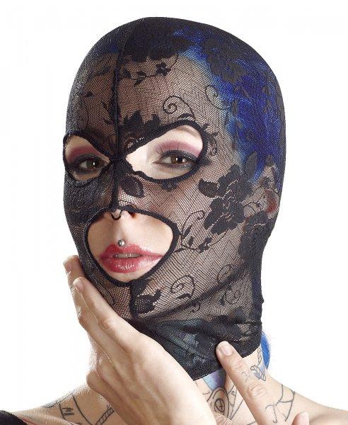Leichte Kopfmaske aus Spitze