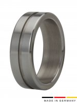 Preview: Cockring stainless steel with groove 15 mm wide