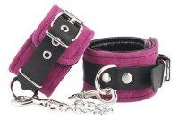 Preview: Handschellen Velours rosa