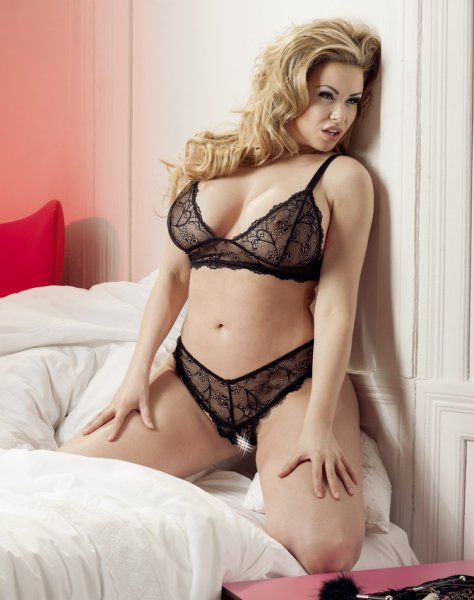 Bra and crotchless G-string