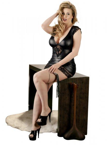 Wetlook Kleid - Plus Size