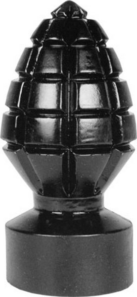 All Black Andreas Anal Plug - the grenade in bed 14,5x 6,5cm