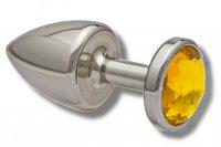 Preview: Buttplug aus Edelstahl mit Kristall 30mm vers. Farben