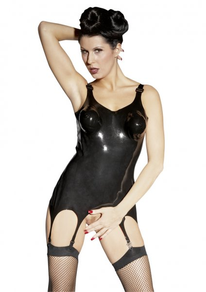 Latex Suspender Corset