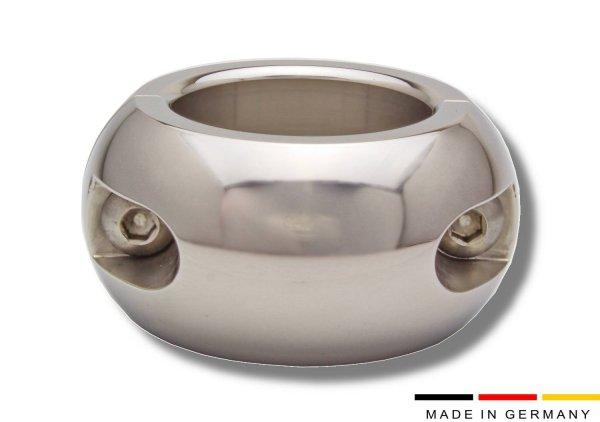 30 mm hoher, ovaler Ballstretcher Edelstahl