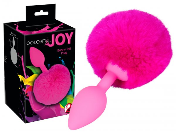 Verspielter Colorful Joy Bunny Tail Plug