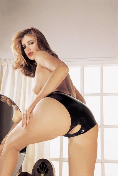 Latex Panties Crotchless black
