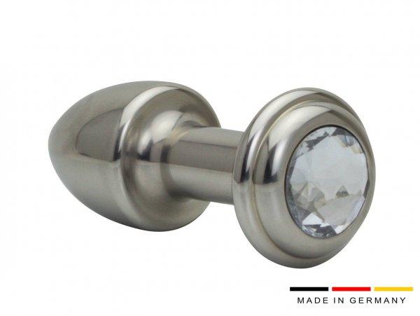 Edelstahl Buttplug 35 mm mit und ohne Stein mit Kristall