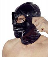 Preview: Maske mit Augenklappen und Reißverschluss