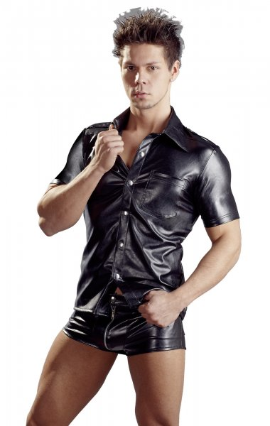 Imitation Leather Men´s Shirt