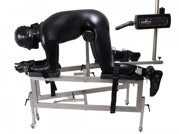 Strafbock aus Edelstahl BDSM optional mit Fickmaschine