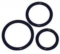 Preview: Black penis ring Trio -Ø 5 cm, 4,2 cm and 3,2 cm