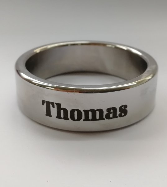 Cockring stainless steel 15 mm wide length