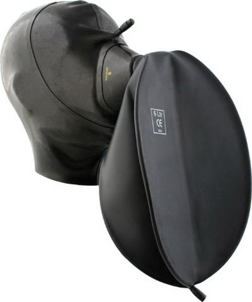 Rubber Hood With Medical Mask And Breathing Bag S