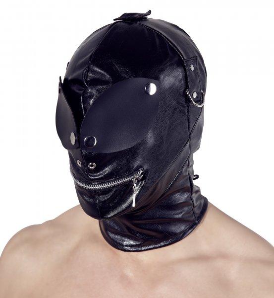 Maske mit Augenklappen und Reißverschluss