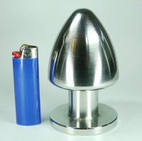 Preview: Buttplug Edelstahl 70 mm