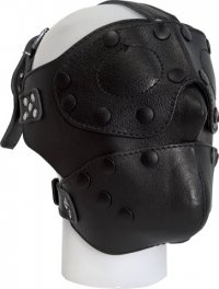 Sturdy leather mask with removable parts
