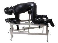 Preview:  Strafbock aus Edelstahl BDSM optional mit Fickmaschine
