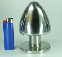 Preview: Buttplug Edelstahl 80mm